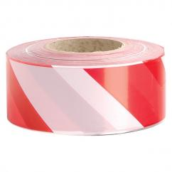 Deemark Red & White Barrier Tape 75mm x 500m image