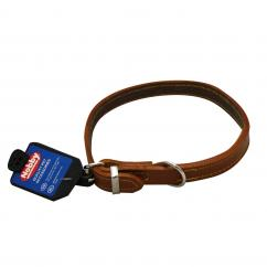 Nobby Tan Sewn Leather Dog Collar 16''  image