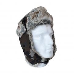Fur Lined Camouflage Trapper Hat  image
