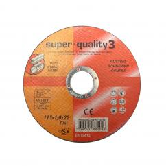 Super Quality Grade 3 - 4 1/2'' Metal Cutting Disc (Flat Centre) image