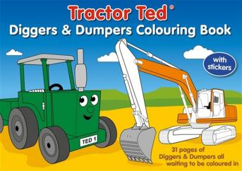 Tractor Ted Diggers and Dumpers Colouring  image